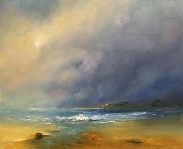 Wolken, Meer, Himmel, Malerei, Storm