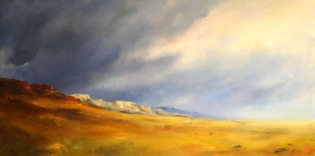 Berge, Himmel, Wüste, Malerei