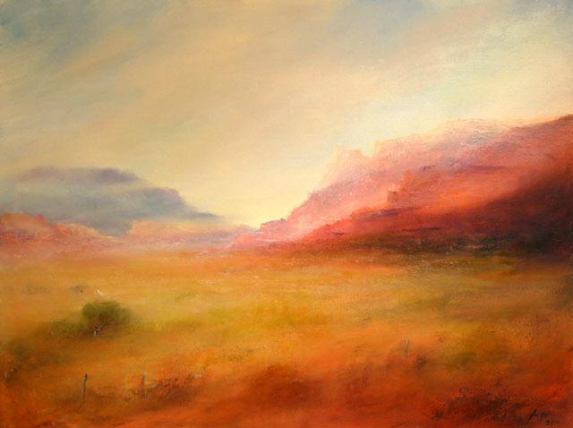 Berge, Wüste, Malerei,