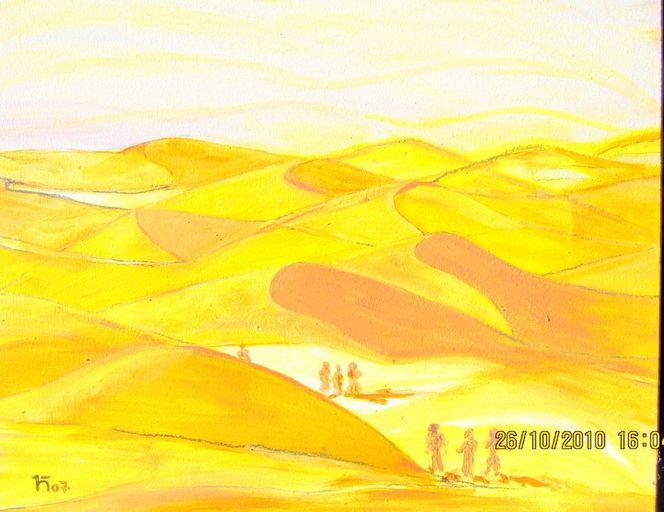 Sonne, Sand, Wind, Malerei, Abstrakt, Sahara