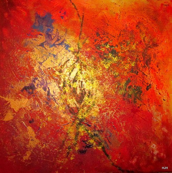 Feuer, Komet, Milchstraße, Malerei, Abstrakt