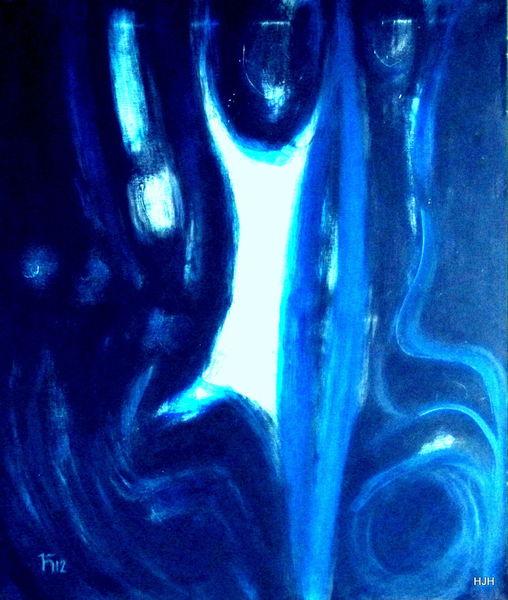 Blau, Tanz, Bewegung, Malerei, Abstrakt