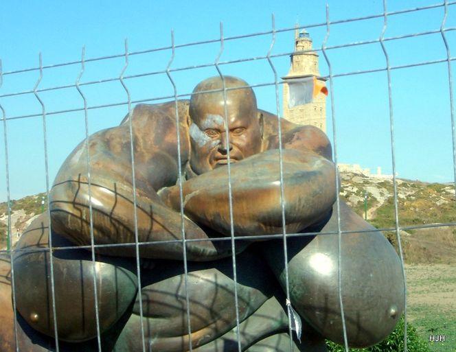 Skulptur, Leuchtturm, Bronze, Fotografie, Reiseimpressionen