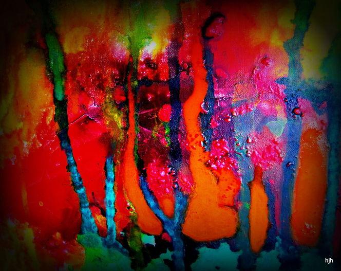 Malerei, Kirschblüte
