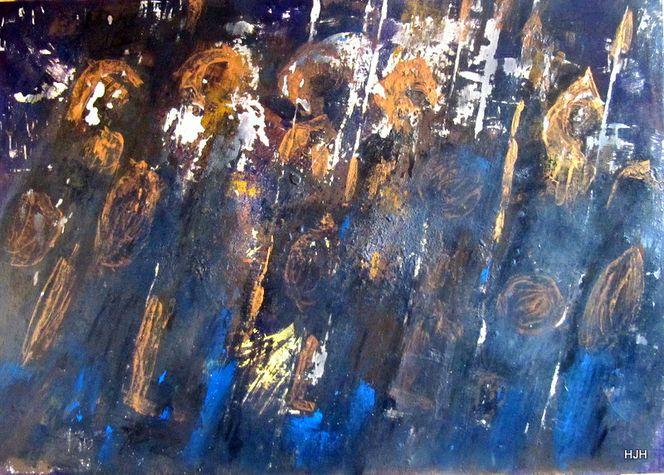 Rüstung, Waffe, Gold, Malerei, Abstrakt