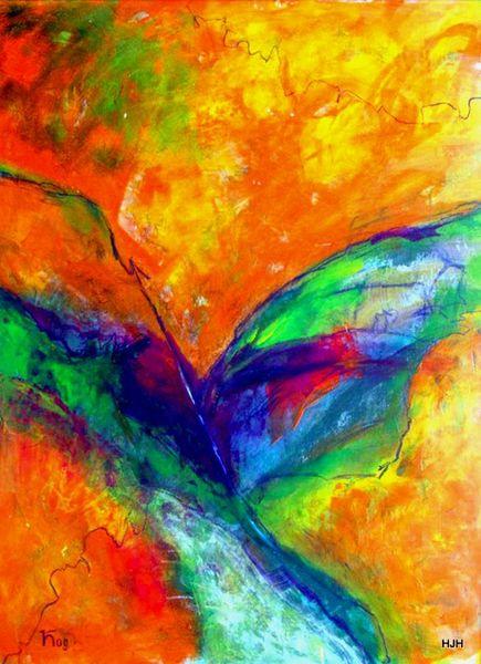 Amorph, Rot, Flügel, Engel, Malerei, Abstrakt