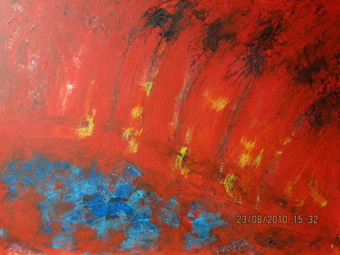 Palmen, Sonne, Wasser, Afrika, Malerei, Abstrakt