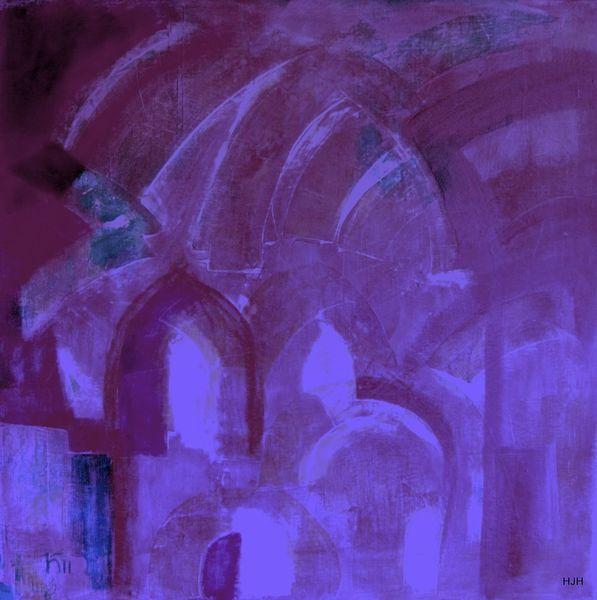 Gewölbe, Tor, Wasser, Malerei, Abstrakt