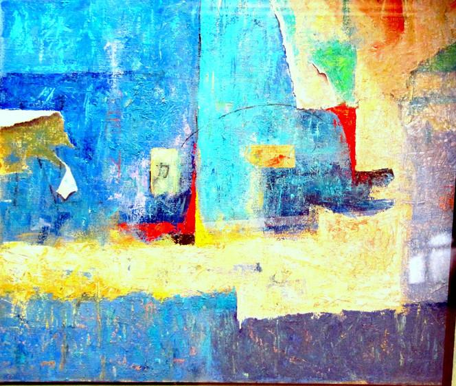 Schiff, Mediterran, Wasser, Malerei, Abstrakt