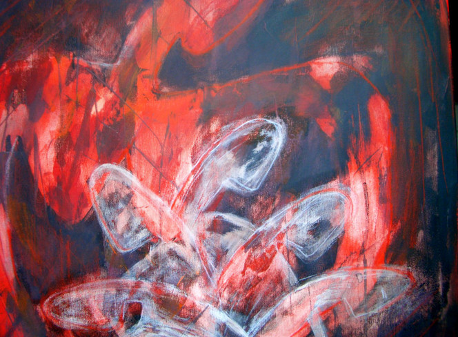 Geborgenheit, Ruhe, Schlaf, Malerei, Abstrakt, Traum