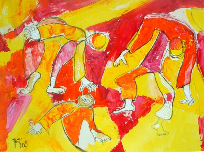 Staunen, Bewegung, Vorführung, Malerei, Abstrakt, Zirkus