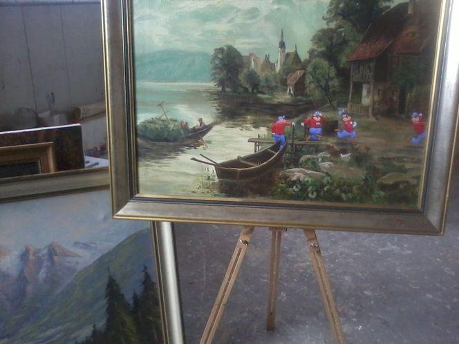Farben, Wand, Schattenspiel, Wallpaper, Ölmalerei, Panzerknacker
