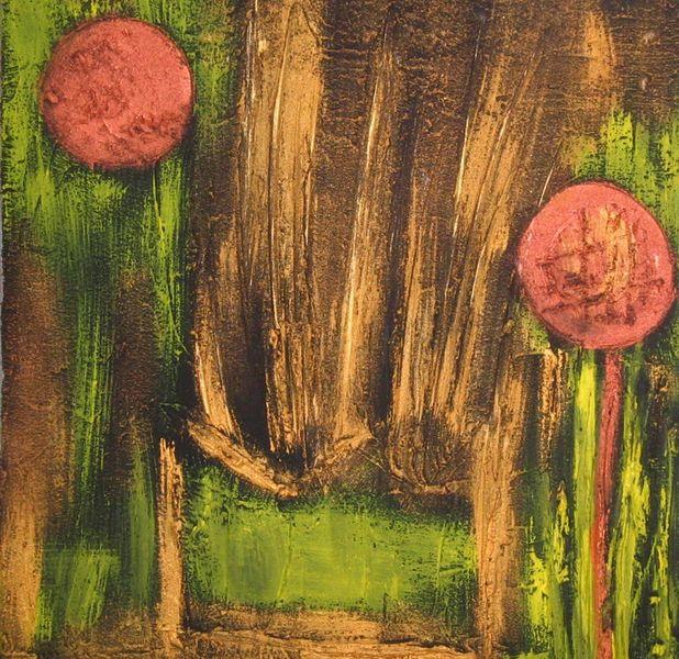 Malerei, Abstrakt, Wald, Sessel