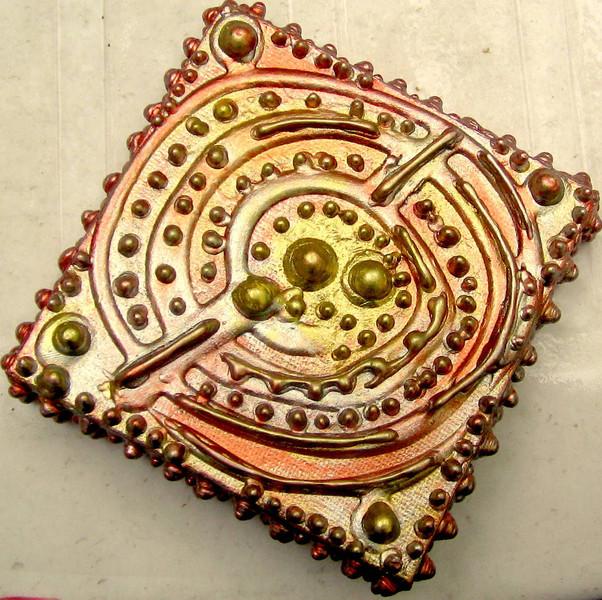 Reliefartig, Silber, Farben, Entspannung, Gold, Kupfer
