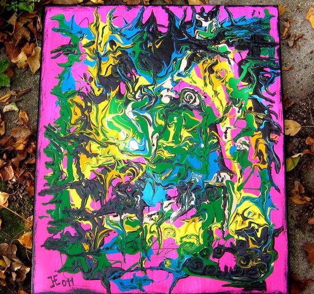 Salat, Man experimentiert, Malerei, Abstrakt