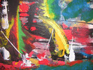 Malerei, Abstrakt, Ferne