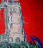 Malerei, Abstrakt, Turm