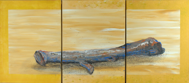 Fluss, Treibholz, Lebensfluss, Sand, Gelb, Ocker