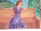 Gartenparty, Sommer, Frau, Malerei