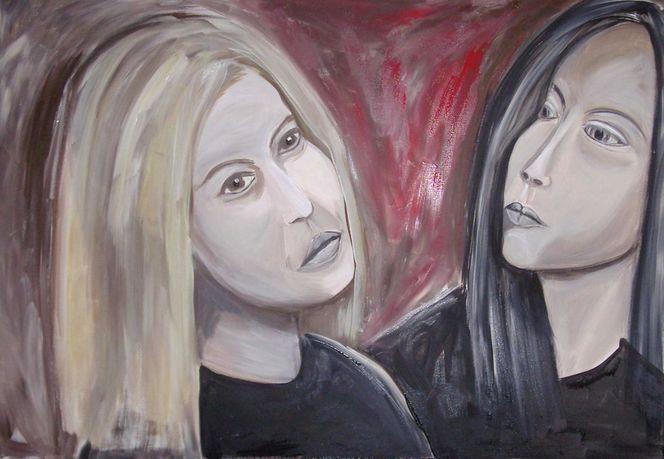 Malerei, Menschen, Frau