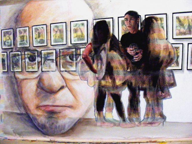Menschen, Acrylmalerei, Portrait, Malerei, Ausstellung