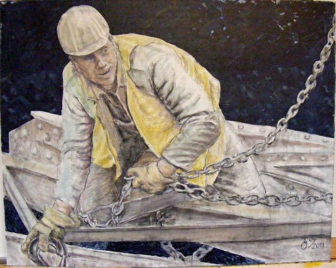 Kohlezeichnung, Portrait, Mann, Acrylmalerei, Ölmalerei, Menschen