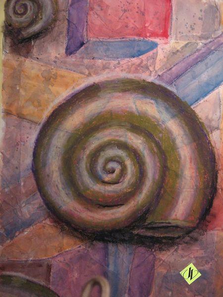 Aquarellmalerei, Schnecke, Nautilus, Pastellmalerei, Malerei, Tiere