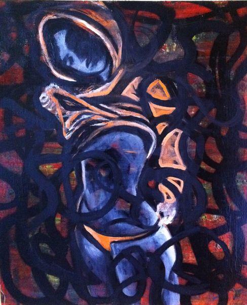 Graffiti frau abstrakt, Malerei, Menschen