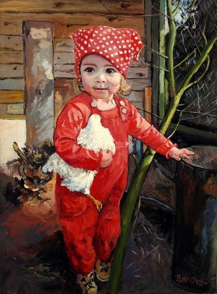 Enkelin emily, Malerei