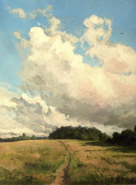 Feldweg sommer wald, Malerei, Feldweg