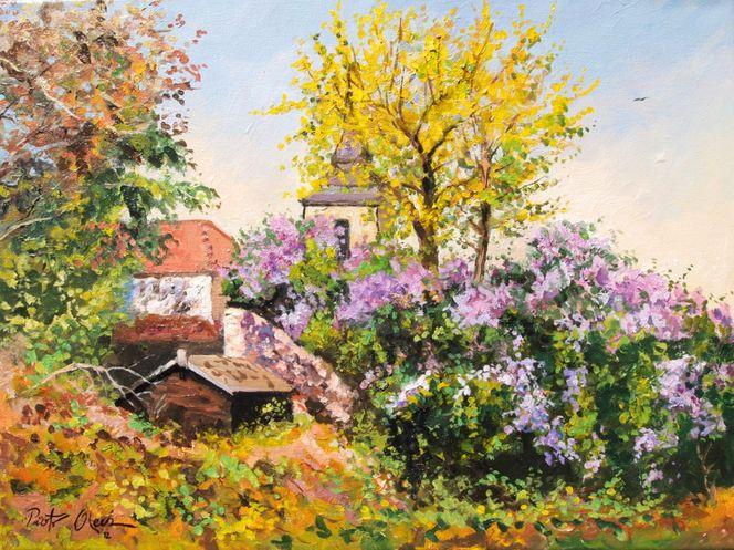 Frühling, Magdeburger, Flieder, Malerei