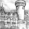 Cottbus, Turm, Bleistiftzeichnung, Spremberger turm