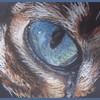 Makro, Blau, Kreide, Zeichnung
