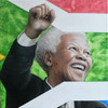 Mandela, Portrait, Südafrika, Acrylmalerei