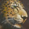 Tierportrait, Amurleopard, Acrylmalerei, Katze