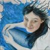 Acrylmalerei, Meer, Meerjungfrau, Malerei