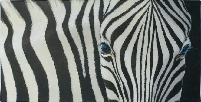 Zebrastreifen, Tiere, Portrait, Zebra, Acrylmalerei, Malerei
