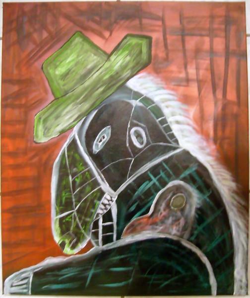 Malerei, Abstrakt, Wesen, Sein, Hut