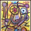 Modern, Malerei, Bunt, Pastellmalerei