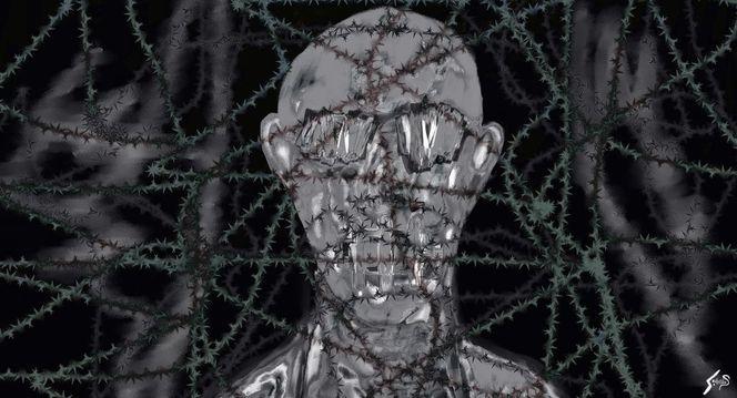 Modern, Digital, Dunkel, Cyberpunk, Digitale kunst