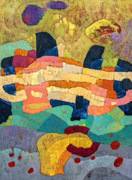 Ölmalerei, Panel, Expressionismus, Modern, Abstrakt, Malerei