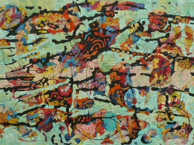 Panel, Abstrakt, Meditations, Ölmalerei, Expressionismus, Malerei