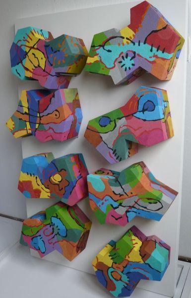 3d, Abstrakt, Ölmalerei, Panel, Malerei,