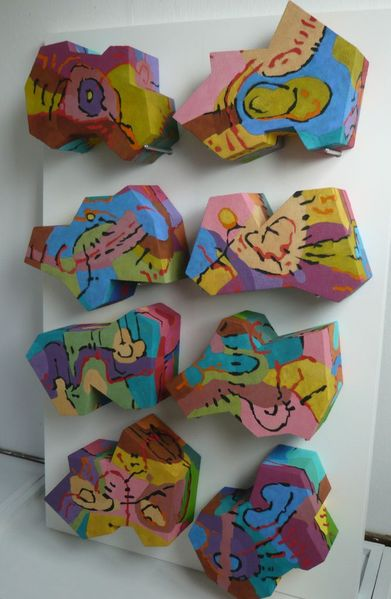 3d, Abstrakt, Malerei,
