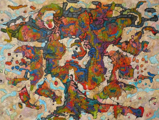 Expressionismus, Panel, Ölmalerei, Abstrakt, Malerei