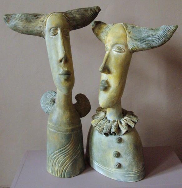 Figurative kunst, Keriamk, Skupltur, Portrait, Kunsthandwerk, Keramik