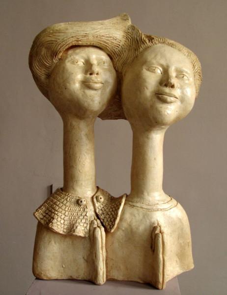 Keriamk, Modern, Skupltur, Figurative kunst, Portrait, Kunsthandwerk
