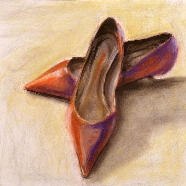 Pumps, Schuhe, High heels, Rot, Damenschuhe, Malerei