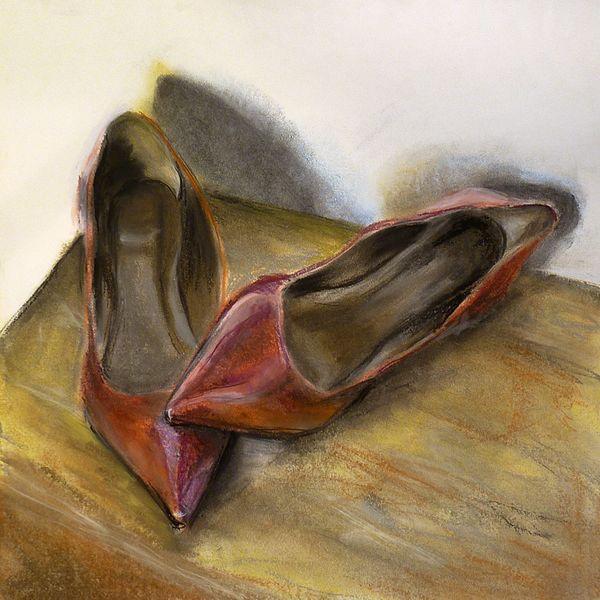 Rot, High heels, Frau, Damenschuhe, Schuhe, Mädchen