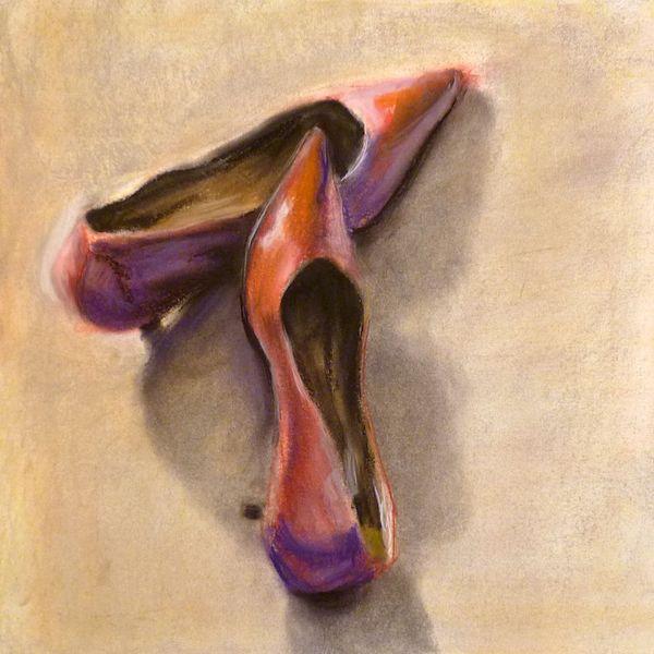 Rot, High heels, Schuhe, Damenschuhe, Pumps, Malerei